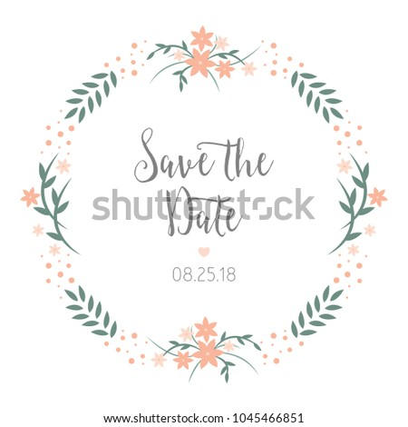 save date wedding reminder card design stock vector royalty free