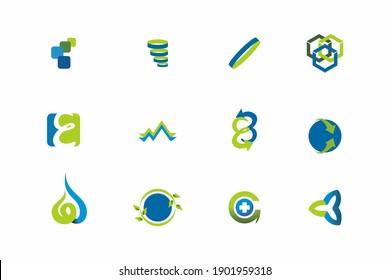 Save Earth and Go Green help with Recycle Icon Set design
