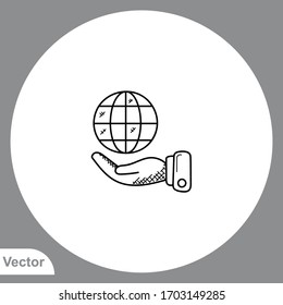 Save earth icon sign vector,Symbol, logo illustration for web and mobile