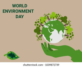 Save Earth Planet. World environment day concept. Hands protect green tree on earth globe.