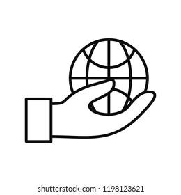 Save globe energy icon. Outline illustration of save globe energy vector icon for web design isolated on white background
