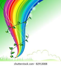 Save Greenery - Abstract Rainbow Pencil Series