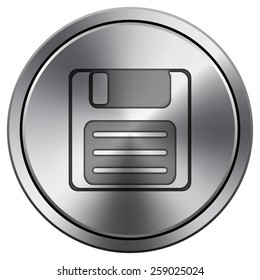 Save icon. Internet button on white background. EPS10 Vector.