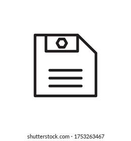 Save Icon Vector Illustration Flat Design