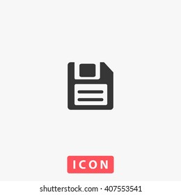save Icon vector. Simple flat symbol. Perfect Black pictogram illustration on white background.