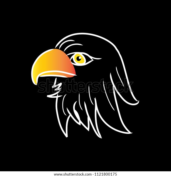 Save  Illustration of eagle head. Logo concept.