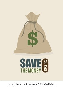 save the money design over  background vector illustration