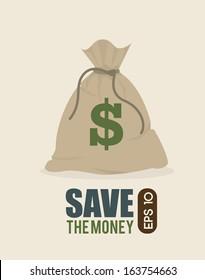 save the money design over  background vector illustration