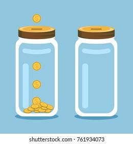 Save money glass jar