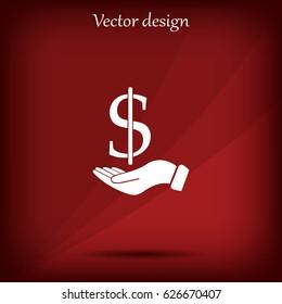 Save money icon, vector illustration. Flat design style