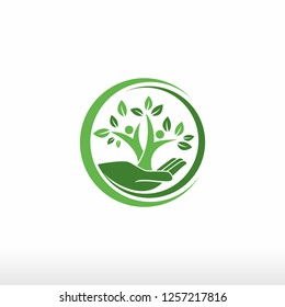 Save nature human hand holding tree ,Ecology and Earth day concept