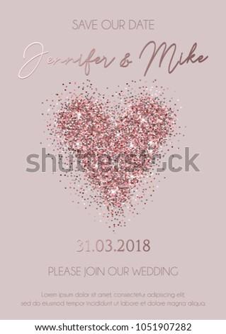 save our date wedding invitation elegance のベクター画像素材