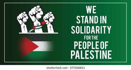 Save Palestine, we stand with Palestine vector design