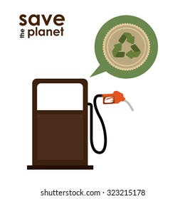 Save the planet concept with eco icons design, vector illustration eps 10