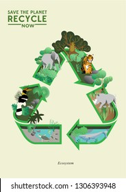 Save the planet/ global warming/ world extinct animal infographic/ recycle