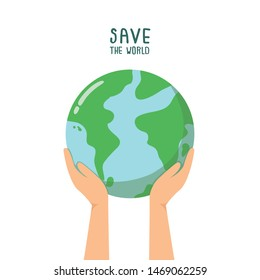 Save planet, protect the earth concept.