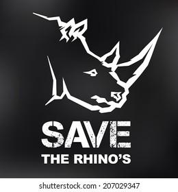 Save the Rhino's Icon Design
