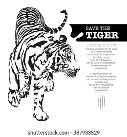 Save Tiger Images Stock Photos Vectors Shutterstock