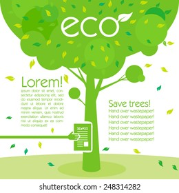 save the trees. concept of environmental poster