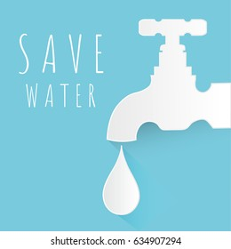 Save The Water Concept with copy space.