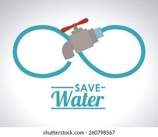 Save Water design, vector illustration
