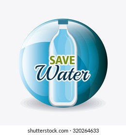 Save water ecology design, vectori llustration eps 10.