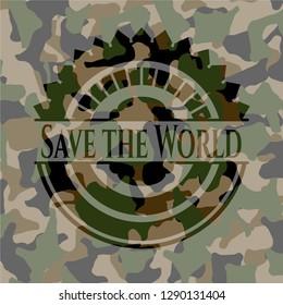 Save the World camouflage emblem