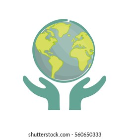 Save the world icon vector illustration graphic design