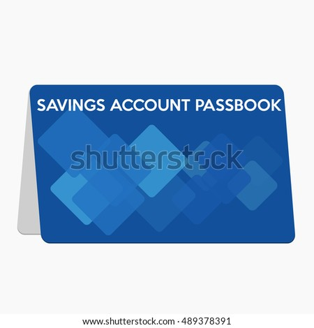 Saving account passbook,flat design illustration vector
