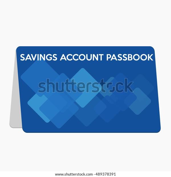 Saving account passbook,flat design illustration vector