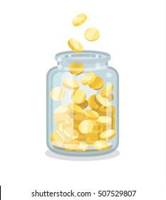 Saving flat money jar