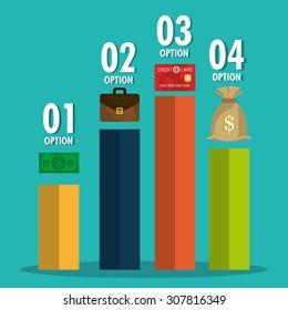 Saving money design, vector illustration eps 10.