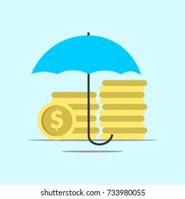 Saving Money Logo Vector Template Design