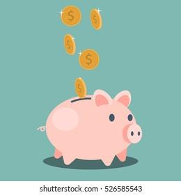 Saving money - vector illustration