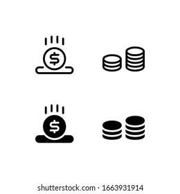 Savings Icon Logo Vector Symbol. Investment Icon