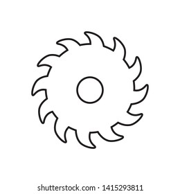 saw blade icon logo vector design template