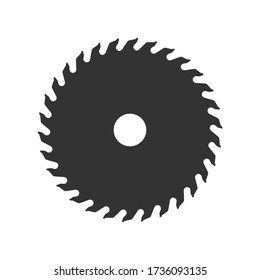 Saw blade icon shape silhouette. Vector illustration image. Isolated on white background.
