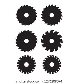 saw blade icon in trendy flat style