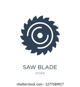 saw blade icon vector on white background, saw blade trendy filled icons from Other collection, saw blade vector illustration