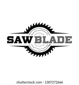 Saw Blade, Sawmill, carpenter Logo Vector Inspiration