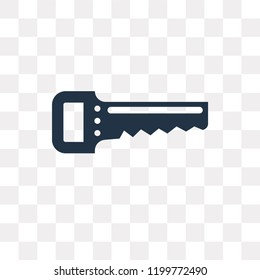 Saw vector icon isolated on transparent background, Saw transparency concept can be used web and mobile