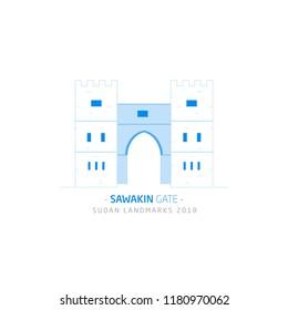 Sawakin Gate, Sudan Landmarks 2018,  is a port city in northeastern Sudan.