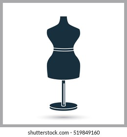 Sawing mannequin icon. Simple design for web and mobile