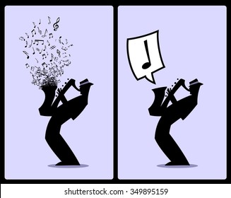Sax player silhouette