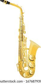 saxophone isolated on white background. illustration vector