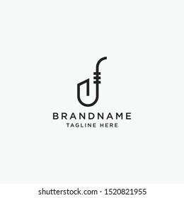 Saxophone Logo Icon Design Template Vector