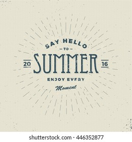 say hello to summer, vintage sign