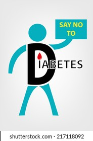 Say No to Diabetes Concept.