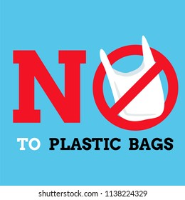 say no plastic bags graphic background ,label or banner vector