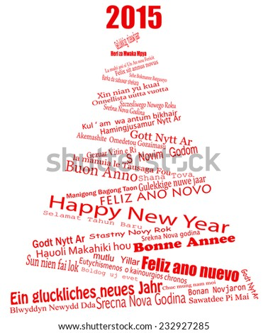 Saying Happy New Year Around World Stock Vector 232927285 - Shutterstock